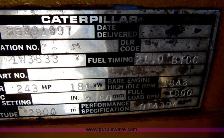 Caterpillar SR4 188 KVA portable generator   Item E4507   SO
