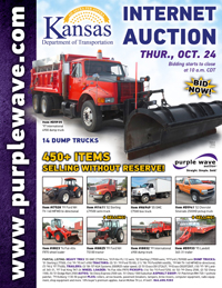 View October 24 Kansas Department of Transportation Auction flyer