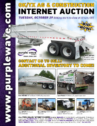 View October 29 Oklahoma/Texas Ag and Construction Equipment Auction flyer