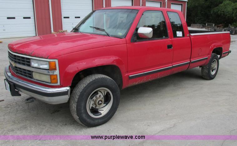 1993 Chevrolet Silverado 2500 Ext Cab Pickup Truck Item F