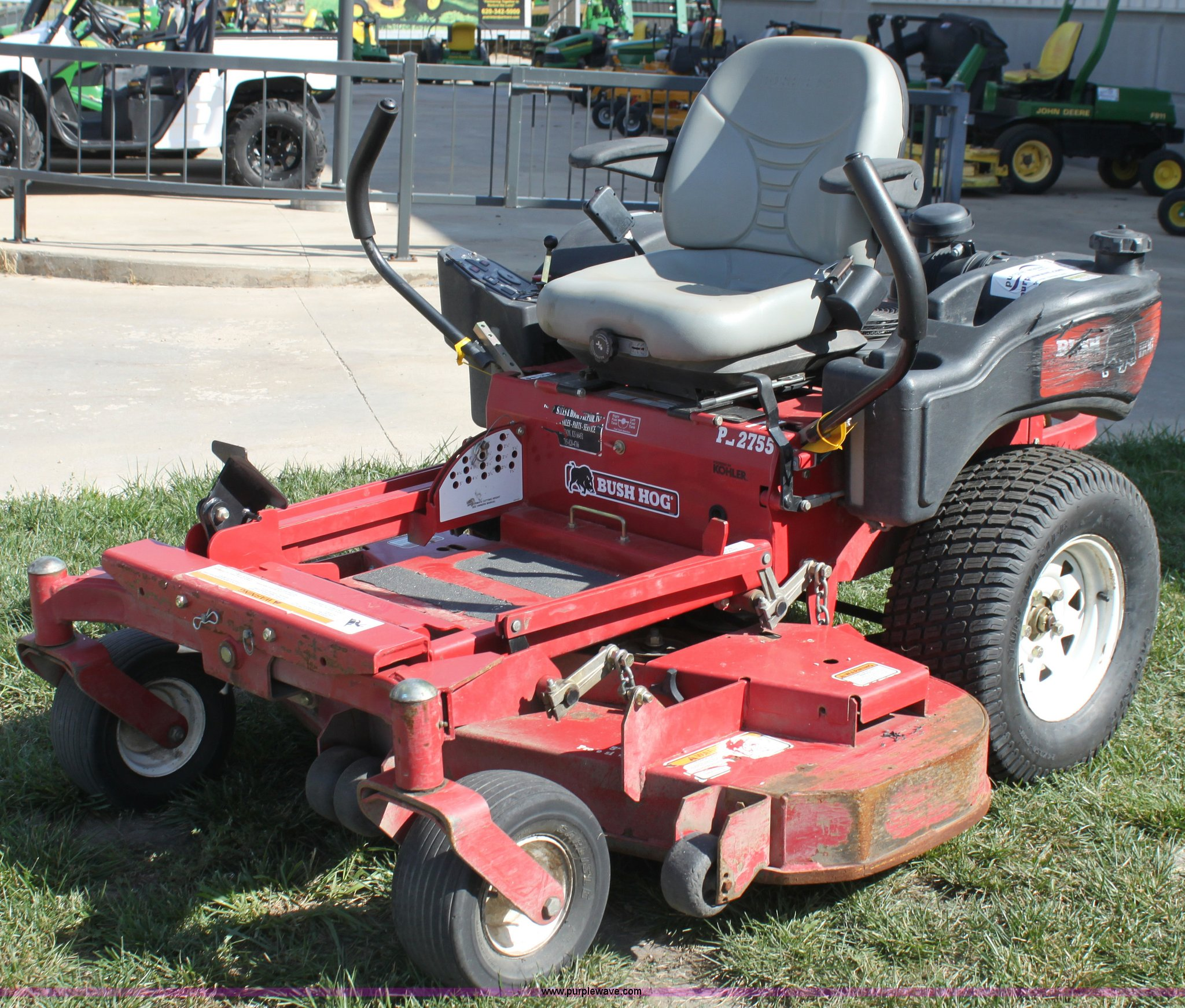 Bush Hog Pz2755 Ztr Lawn Mower Item G4230 Sold October