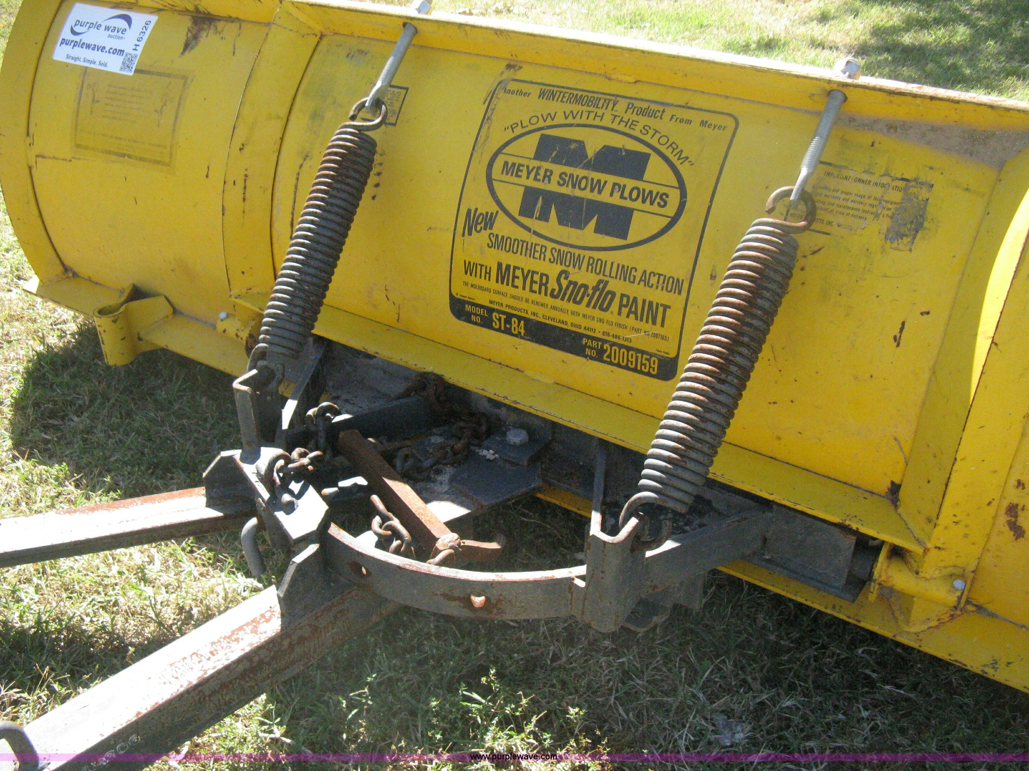 Meyer St84 Snow Plow Item H6326 Sold October 30 Vehicle Meyers Parts Full Size In New Window