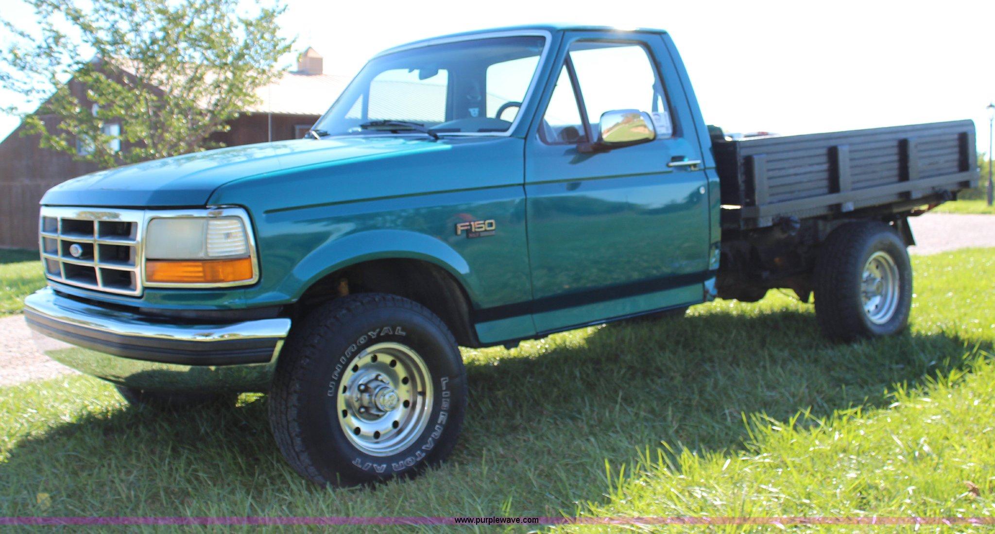 1994 Ford F150 Xlt Flatbed Pickup Truck Item H6790 Sold