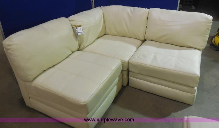 I1307 Image For Item I1307 Ashley Furniture White Leather Sectional