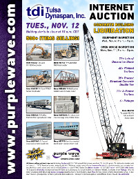 View November 12 Tulsa Dynaspan Inc. Liquidation Auction flyer