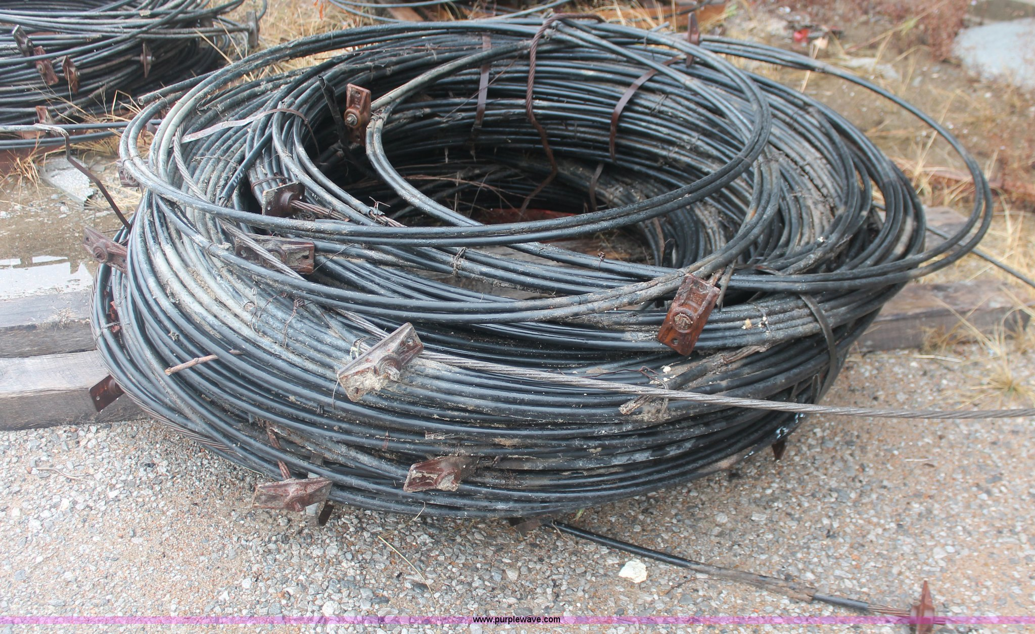 Approximately 100 post tension cables   Item AU9717   SOLD!