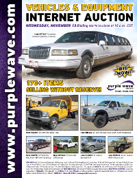 View November 13 Vehicles and Equipment Auction flyer