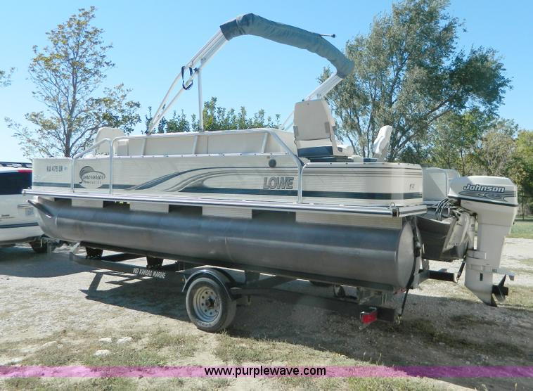 2002 Lowe Suncruiser Trinidad 204 20 Pontoon Boat Item D6