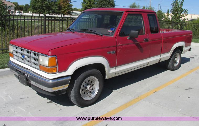 1990 ford ranger xlt supercab pickup truck item f5317. Black Bedroom Furniture Sets. Home Design Ideas