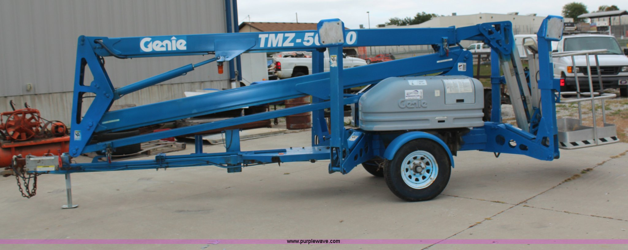 ... Genie TMZ-50\30 towable boom lift Full size in new window ...