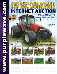 View November 15 Cumberland Valley Sod Inc. Liquidation Auction flyer