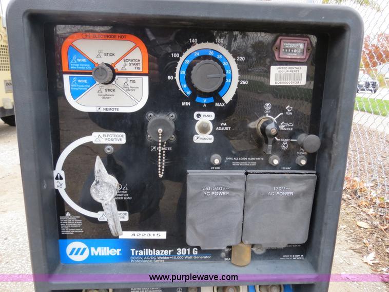 Miller Welders For Sale >> 2002 Miller Trailblazer 301G welder/generator | Item B4776