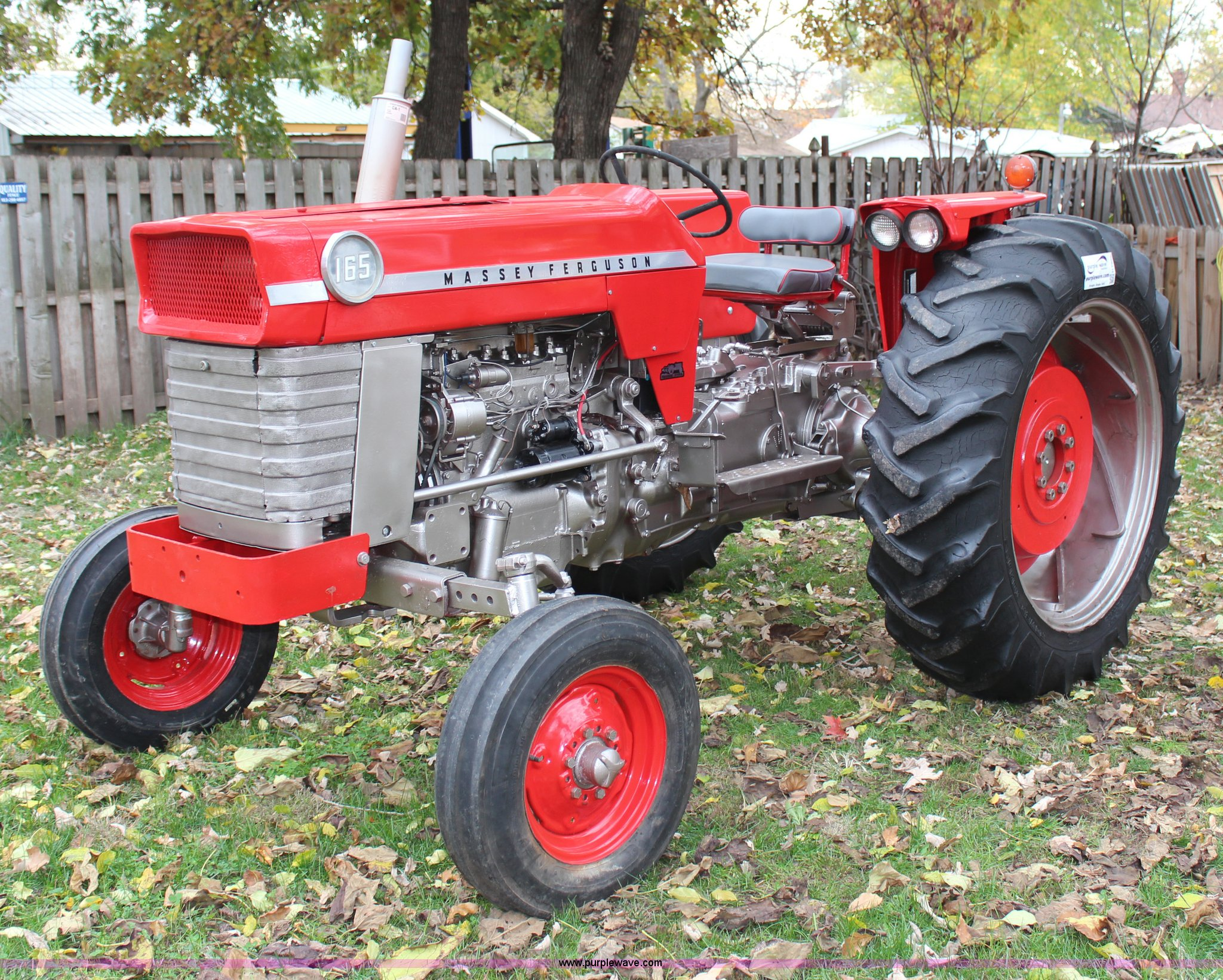 1970 massey ferguson 165 tractor item h7948 sold. Black Bedroom Furniture Sets. Home Design Ideas