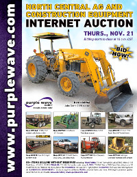 View November 21 North Central Ag and Construction Equipment Auction flyer