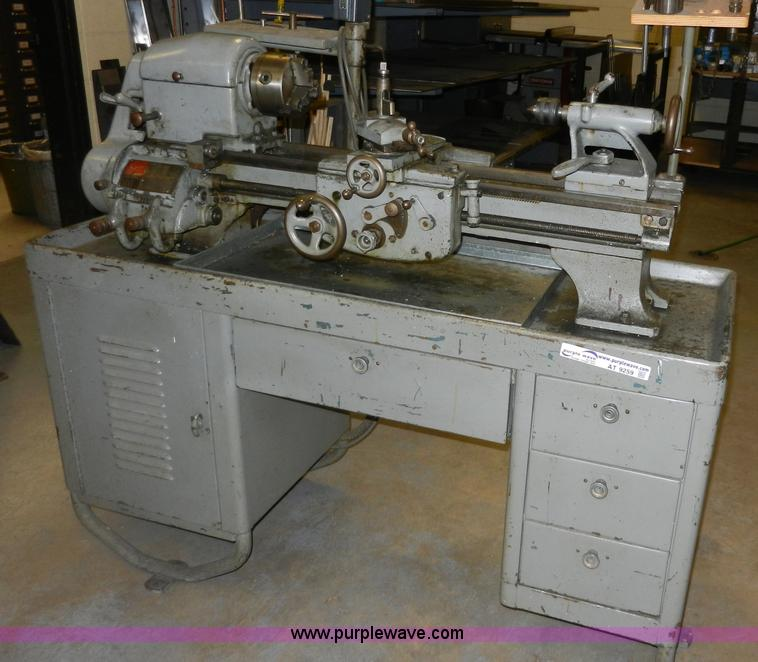 Logan 825 manual lathe with cabinet | Item AT9259 | SOLD! De...