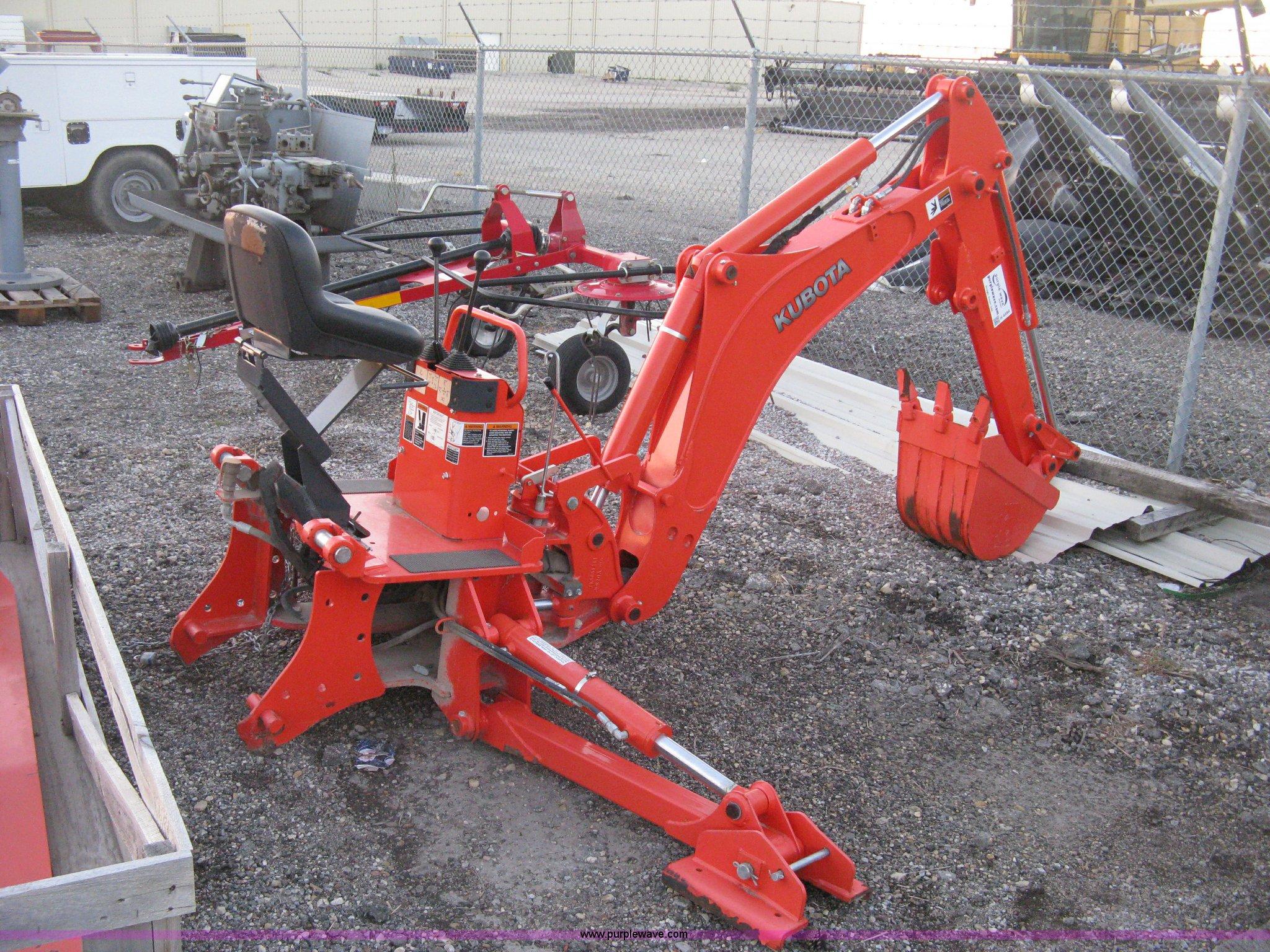 Kubota Bh92 Backhoe Attachment Item H4494 Sold
