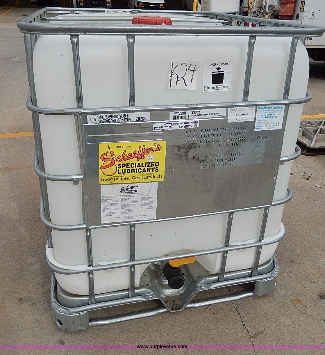 250 gallon motor oil storage container Item AP9926 SOLD