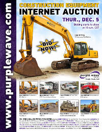 View December 5 Construction Equipment Auction flyer
