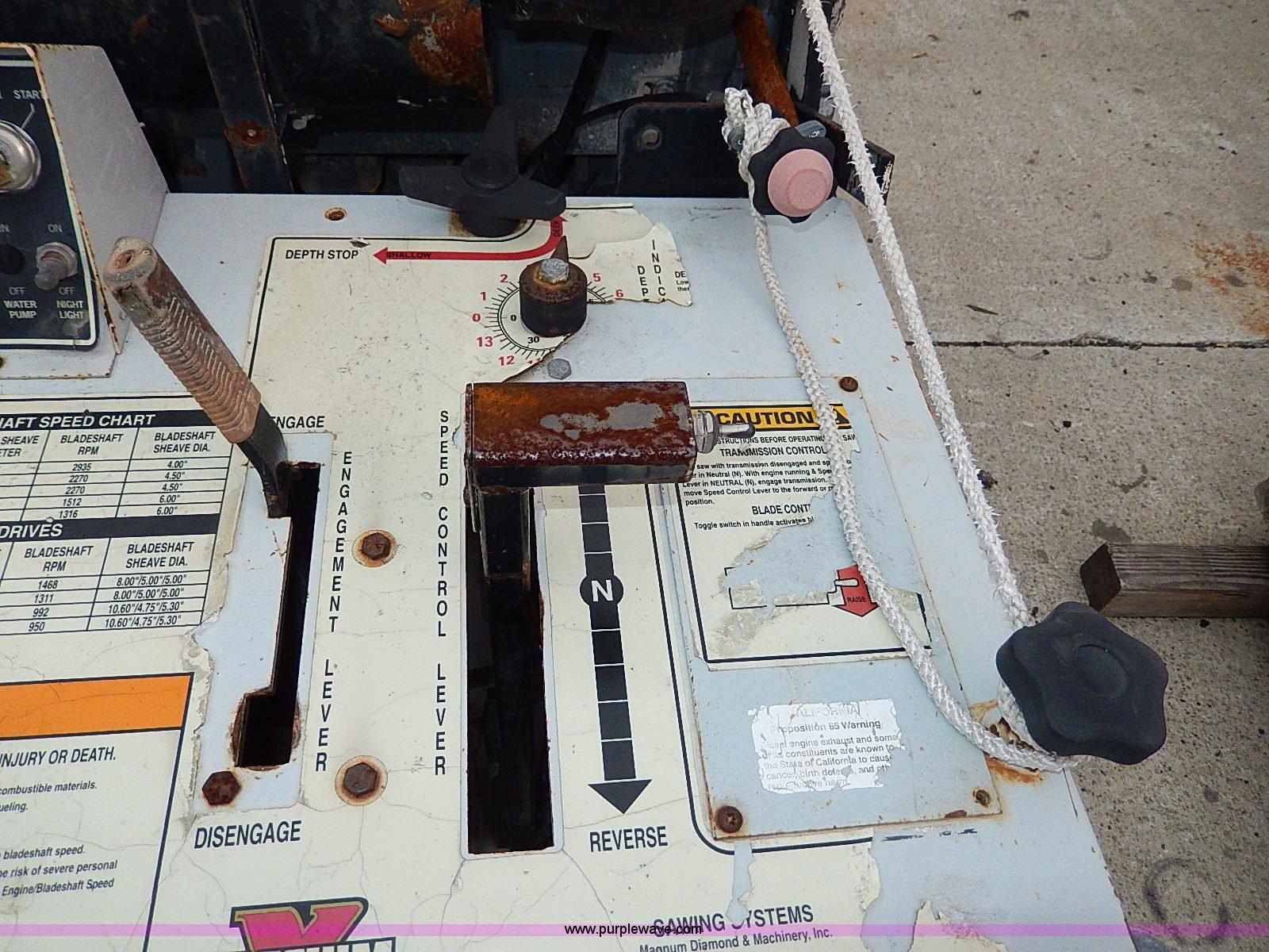 Magnum X Turbo Xpress concrete saw | Item AP9925 | SOLD! Dec