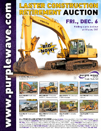 View December 6 Laster Construction Retirement Auction flyer