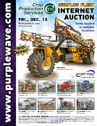 View December 13 Crop Production Services Auction flyer