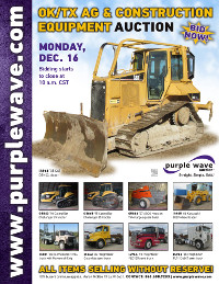 View December 16 Oklahoma/Texas Ag and Construction Equipment Auction flyer