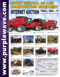 View December 17 North Central Ag and Construction Equipment Auction flyer