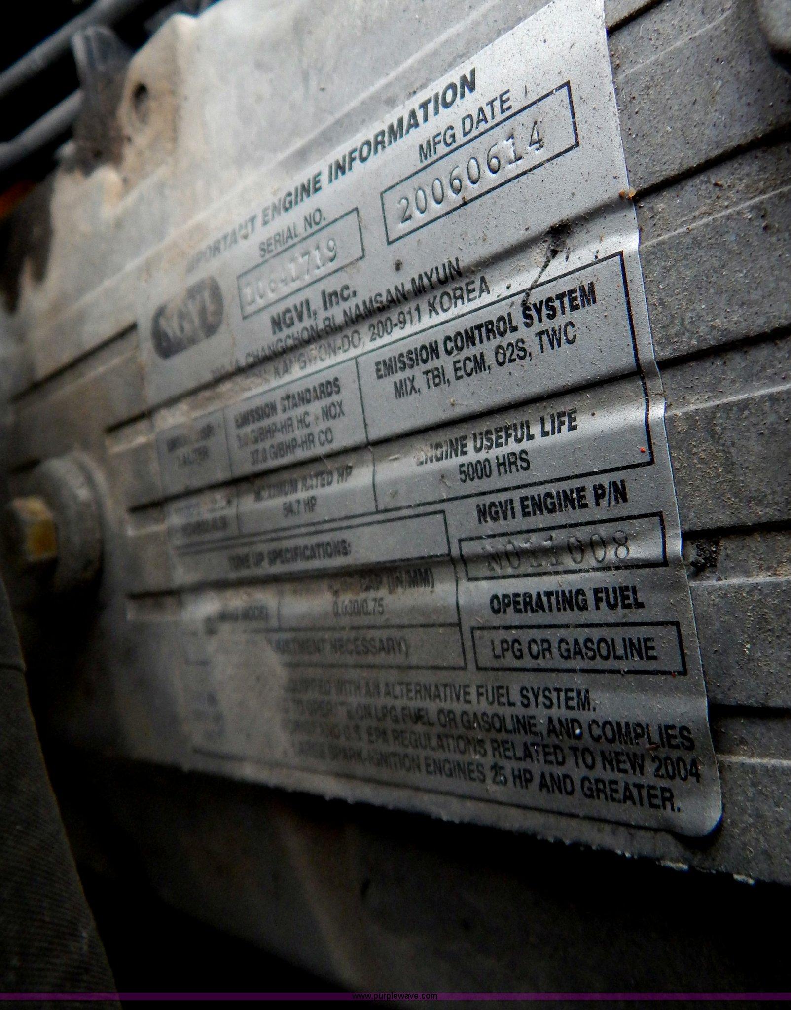 2007 Dooson G25E forklift | Item AW9190 | SOLD! December 17