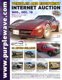 View December 18 Vehicles and Equipment Auction flyer