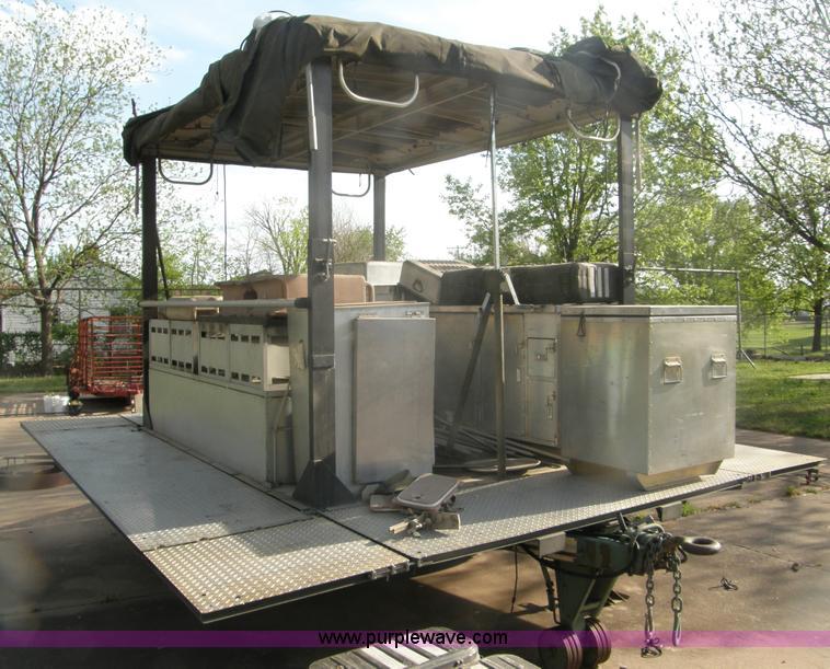us military mkt 85 portable field kitchen trailer item h72 rh purplewave com Army Mobile Kitchen Trailer Manual Army Mobile Kitchen Trailer Manual
