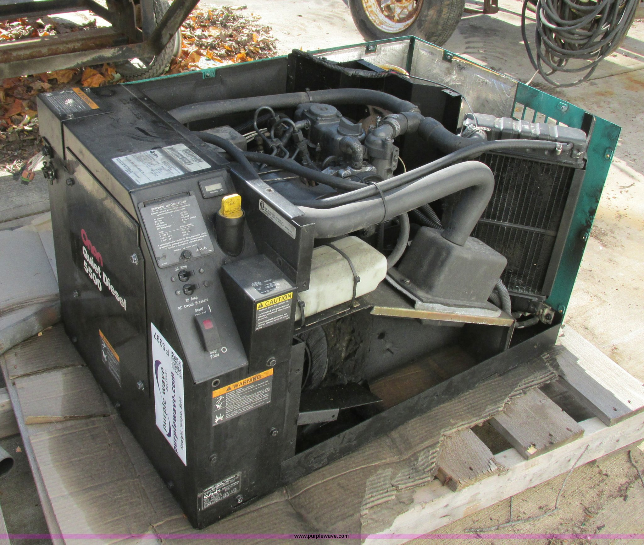 Onan Quiet 5500 generator | Item F5397 | SOLD! December 19 C