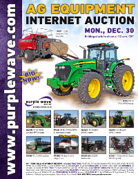 View December 30 Ag Equipment Auction flyer