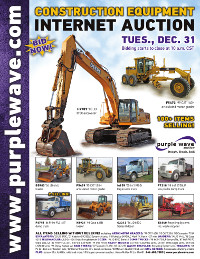 View December 31 Construction Equipment Auction flyer