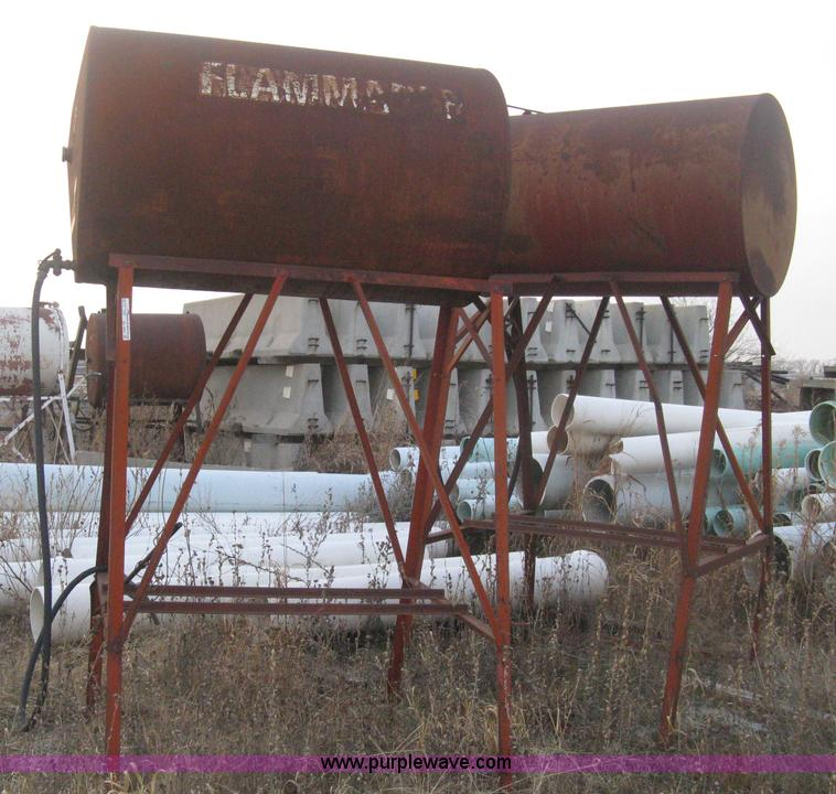 2) gravity flow fuel tanks on stands | Item AX9551 | SOLD!