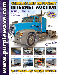 View January 8 Vehicles and Equipment Auction flyer