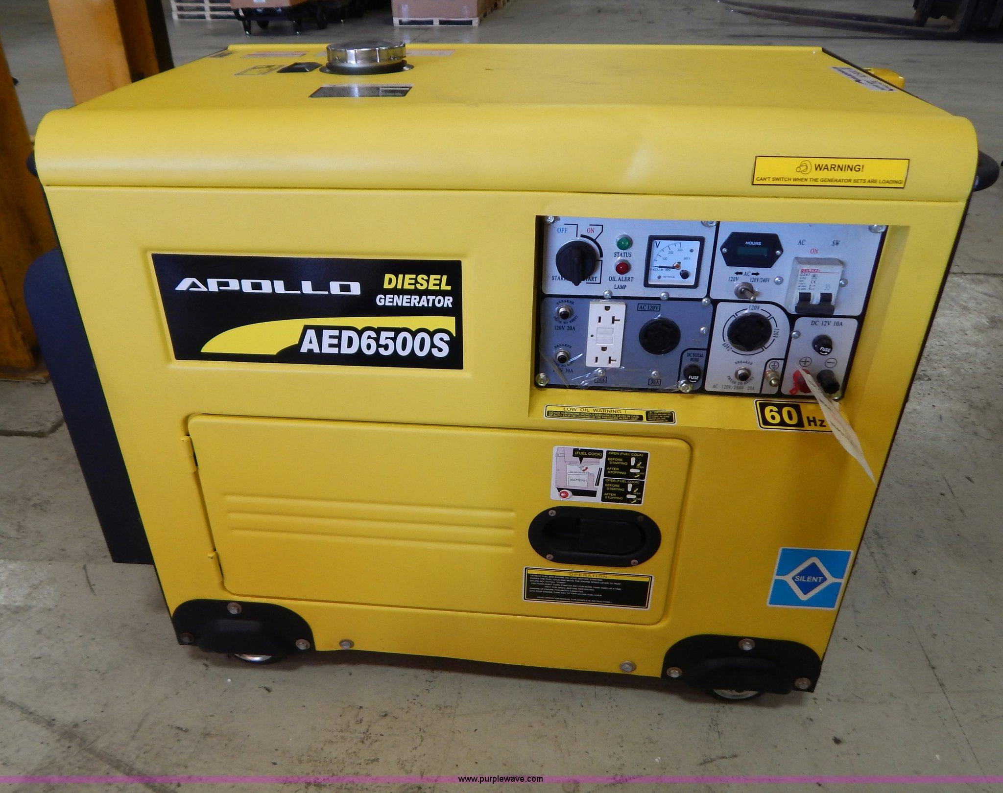 Apollo AED6500S generator Item AO9232
