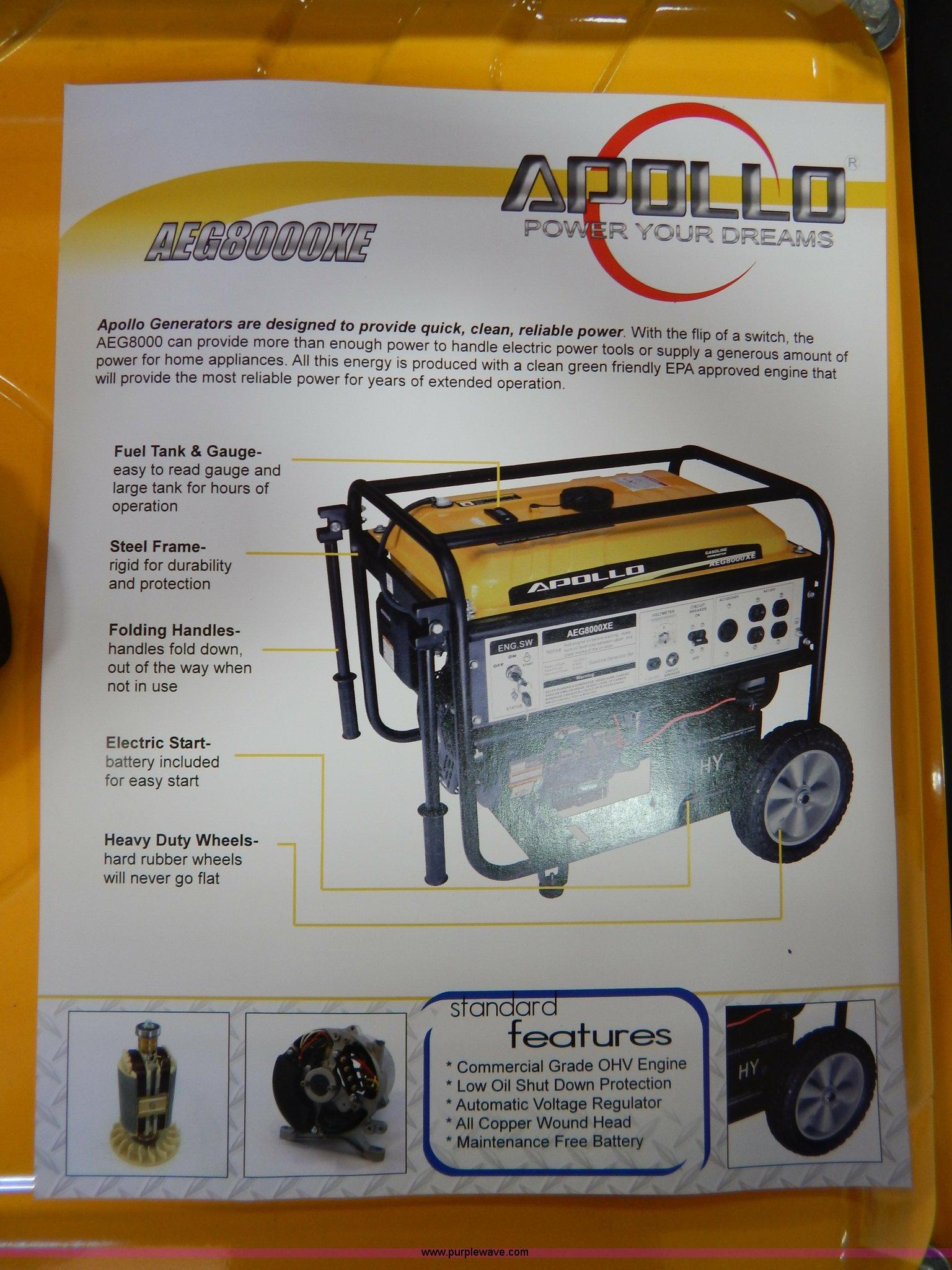 Apollo AEG8000XE generator Item AO9236