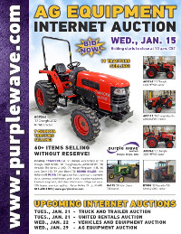 View January 15 Ag Equipment Auction flyer
