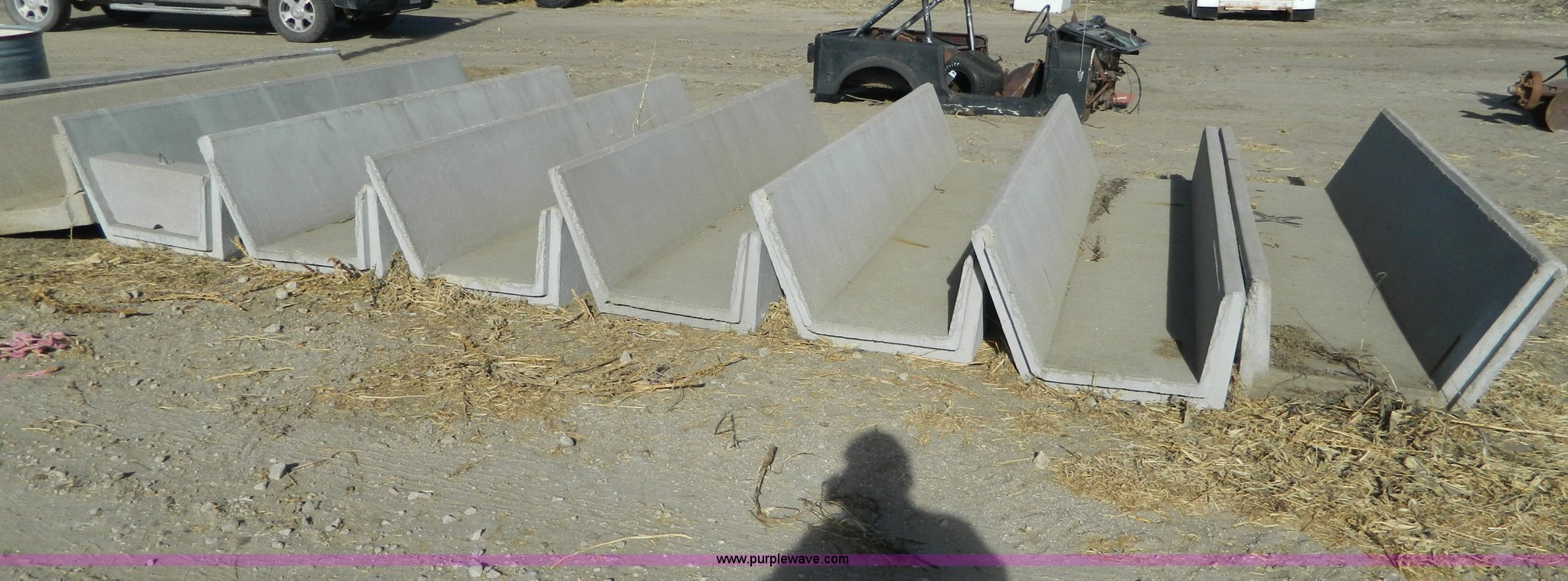 9 Concrete Fence Line Feed Bunks Item Ad9937 Sold