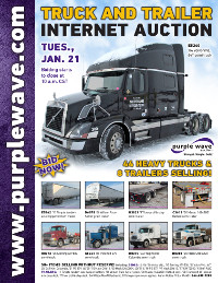 View January 21 Truck and Trailer Auction flyer