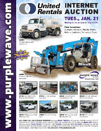 View January 21 United Rentals Auction flyer