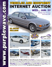 View January 22 Vehicles and Equipment Auction flyer