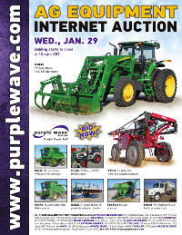View January 29 Ag Equipment Auction flyer