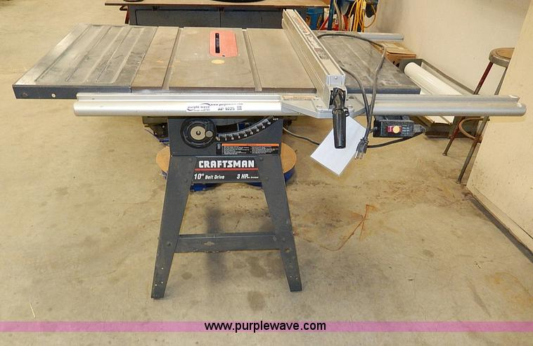 Craftsman 10 Table Saw Item Ap9225 Sold