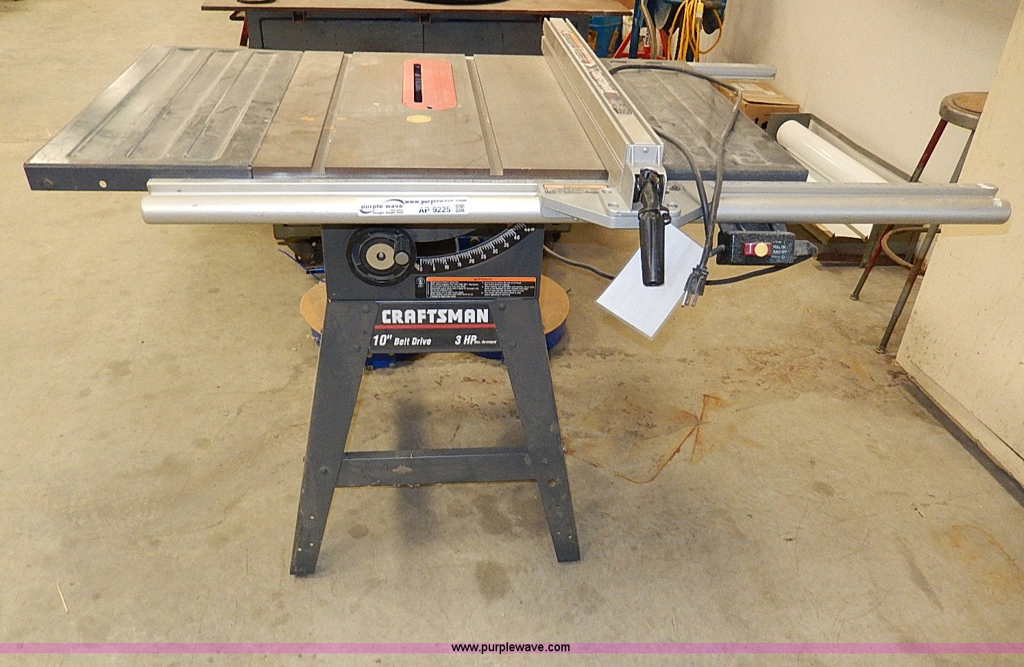 Craftsman 113299315 10 table saw item ap9225 sold ap9225 image for item ap9225 craftsman 113299315 10 table saw greentooth Image collections