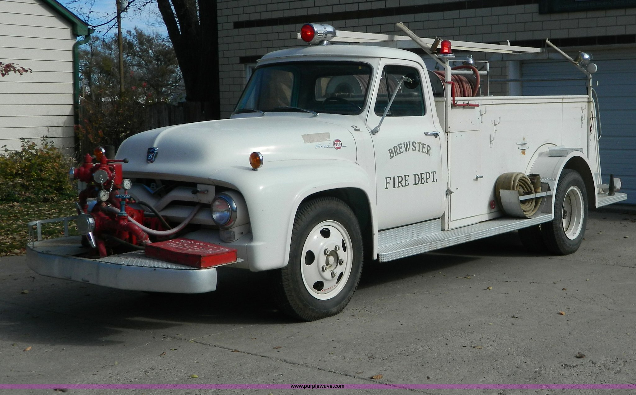 1955 Ford Fire Truck For Sale Wiring Diagrams F100 Specifications F500 Item Az9019 Sold February 4 G Rh Purplewave Com 1961 1956