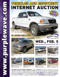 View February 5 Vehicles and Equipment Auction flyer