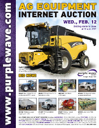View February 12 Ag Equipment Auction flyer