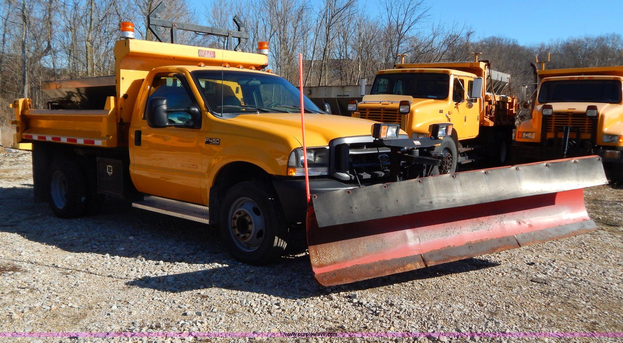 2002 ford f450 super duty snow plow truck item h3806 sol