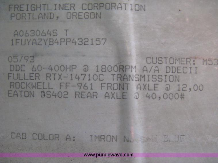 1993 Freightliner FLA cab over semi truck | Item I5707 | SOL